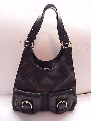 Banana Republic~Black Leather Hobo roomy Handbag
