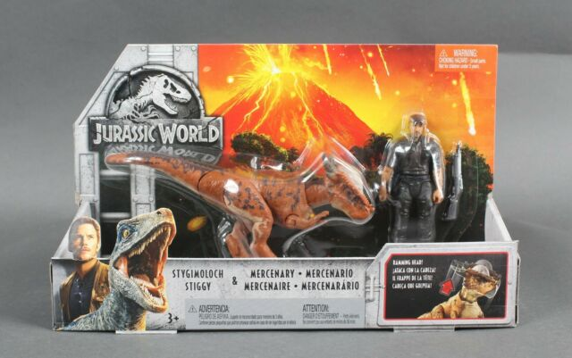 JURASSIC WORLD Figure Set-Mercenary /& anchilosauro