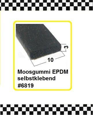 100% QualitäT 8m Moosgummi Selbstklebend € 2,35/m Gummiprofil 10x3mm 6819 Aus Berlin Quell Sommer Durst