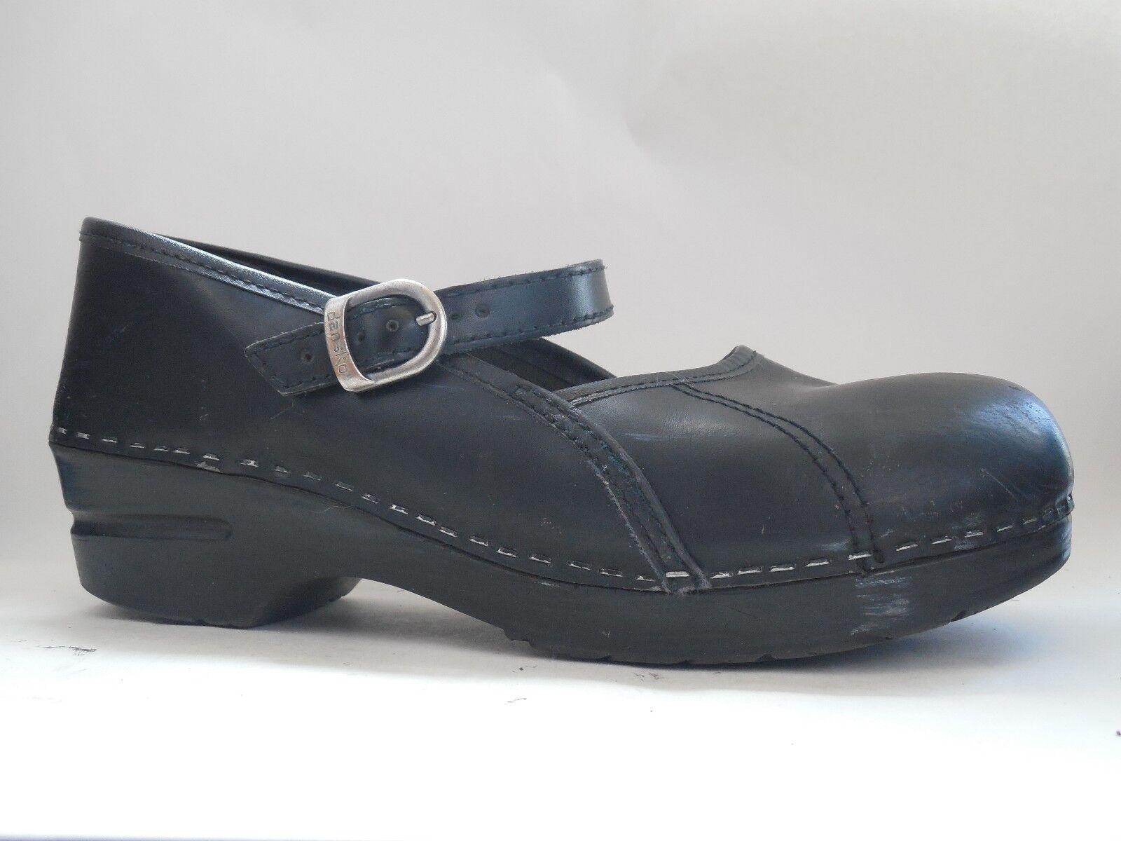 Dansko para mujer 9.5 10 M EU 40 40 40 Mary Jane Zapatos Negro Cuero Carrera De Confort Zuecos  mas preferencial