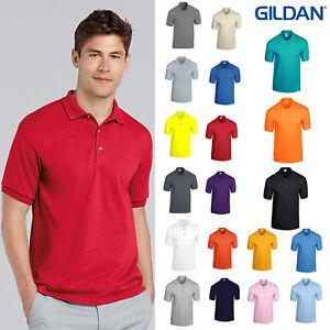 Gildan-DryBlend-Jersey-Maglia-Polo-8800-Manica-Corta-Con-Colletto-Casual-T-shirt