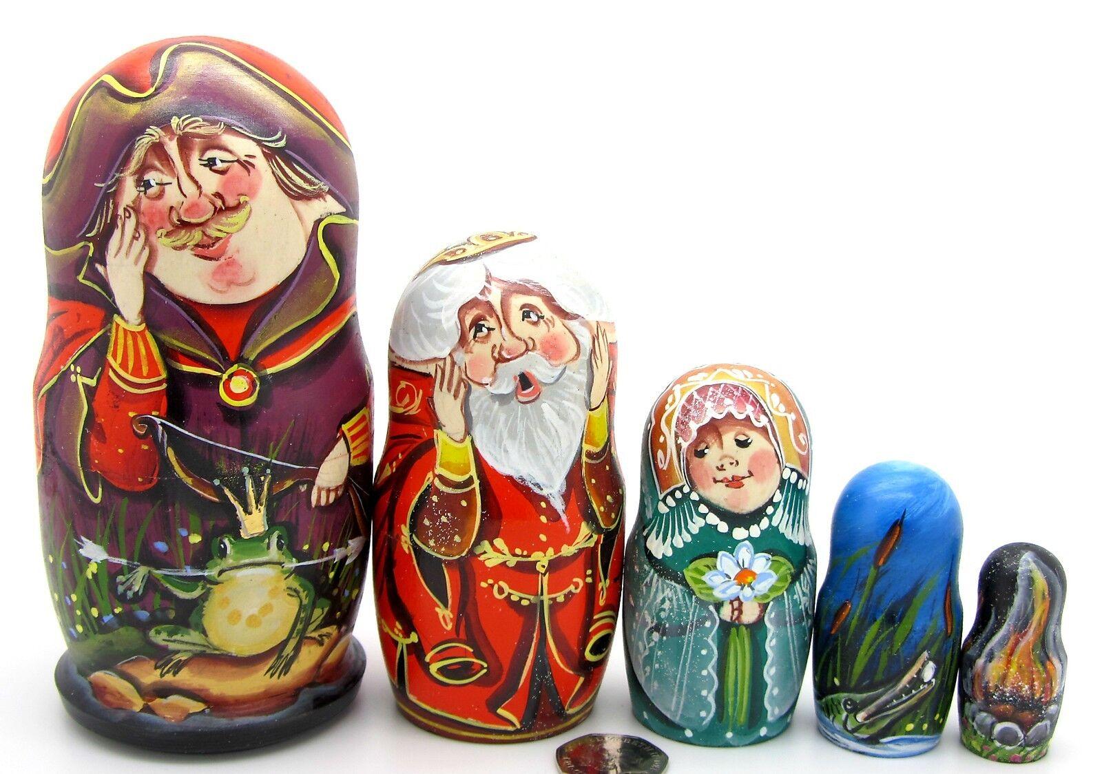 Nesting Dolls Matryoshka Matt 5 TSAREVNA FROG Princess Fairy Tale SERGEYEVA