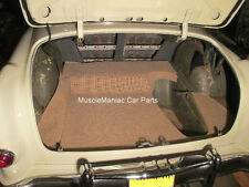 1953-1954 Pontiac Chieftain TRUNK MAT Tan/Brown Tweed Mat on Tar Felt 53 54