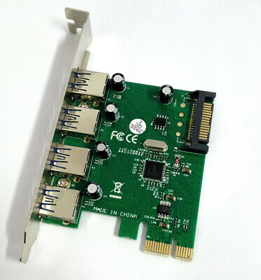 Un Socket Expansion Card 2A1C Port VL805 Ctzrzyt PCI-E X4 SuperSpeed USB 3.1 Type-C