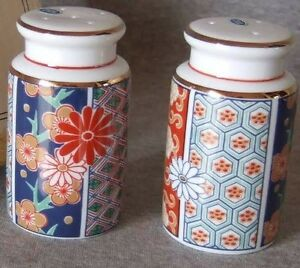 Arita-Imari-Fan-Salt-amp-Pepper-MIB-RARE-out-of-Production-4-over-60-years-598