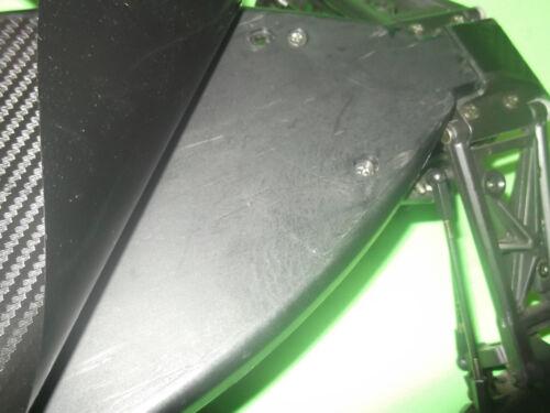 HPI RS4 MT plaque châssis Peau Noir Fibre de Carbone Look Châssis Protecteur