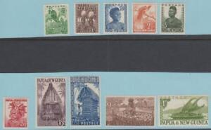 Papua-amp-New-Guinea-122-131-Mint-Hinged-OG-No-Faults-Very-Fine
