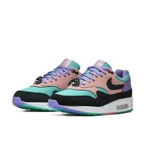 d8859427bc66 Nike Mens Air Max 1 ND Have A Nike Day Purple Black Coral Sneakers ...