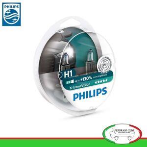 2-Lampade-Philips-H1-X-Treme-Vision-Alta-Visibilita-Lampadine-Fari-Auto-Moto
