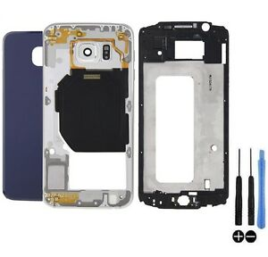 COQUE-COMPLET-REMPLACEMENT-CHASSIS-VITRE-ARRIERE-SAMSUNG-GALAXY-S6-G920F-BLEU