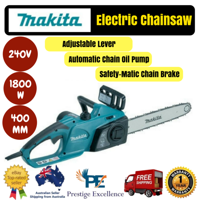 Makita UC4041A 240V 1800W 400MM 16inch Electric Chainsaw with Automatic Oil Pump