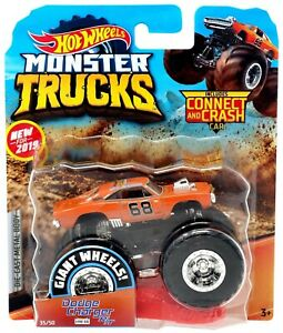 New 2019 Hot Wheels Monster Jam Dodge Charger R T Orange 68 Truck 1 64 Rare Htf Ebay