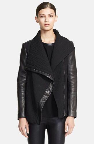 Leather Jacket Trim Blizzard Nwot 995 S Size Lang Helmut Black qOBInwvXtn