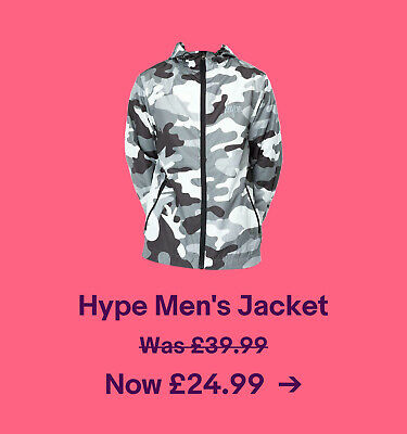 Hype Men's Jacket Was £39.99. Now £24.99