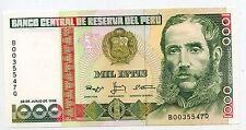 BILLET // PEROU / PERU 1000 / MIL INTIS 1988  / TTB