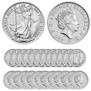 2016 Silver British Britannia Coins