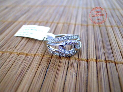 Anello Ring Elegante Estivo Donna Ragazza Catena Strass Moda Mare Estate Glamour