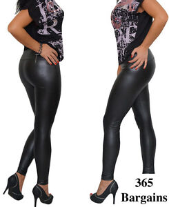 4227766bc02 Image is loading High-Quality-Matte-High-Waisted-Leggings-Plus-Size-
