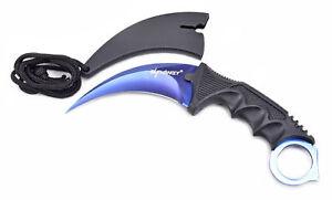 Frank Elfmonkey® Karambit Messer Jagdmesser Outdoormesser Csgo Knife Deep Blue Kataloge Werden Auf Anfrage Verschickt