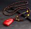 Lange-Halskette-Nepal-Boho-Anhaenger-Retro-Vintage-Holz-Handgefertigt-Perlen Indexbild 14