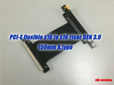 PCIE PCI-Express16x Extension Adapter Riser Cable,GEN.3,150mm D.type