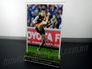 Signed-TRENT-COTCHIN-Photo-amp-Frame-PROOF-COA-Richmond-Tigers-AFL-2019-Guernsey