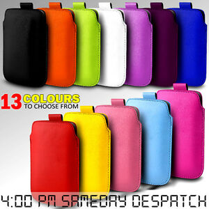 LEATHER-PULL-TAB-SKIN-CASE-COVER-POUCH-FOR-VARIOUS-HTC-MOBILE