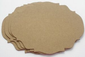Bare Chipboard Die Cuts Embellishments 4 FANCY FRAME NOTES
