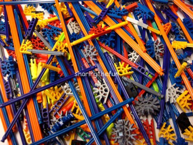 250 KNEX RODS /& CONNECTORS Random Mixed K/'nex Replacement Parts Pieces Lot