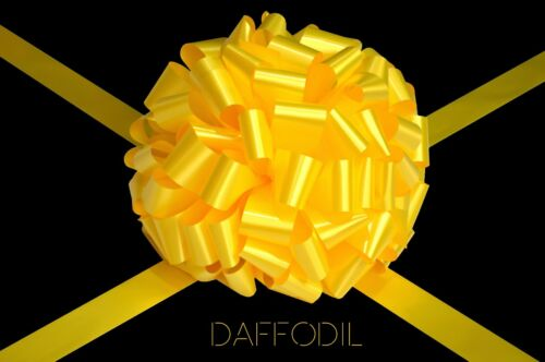 Daffodil Large Bow Handmade in UK For Gift Present Car Bike Bus Various Sizes