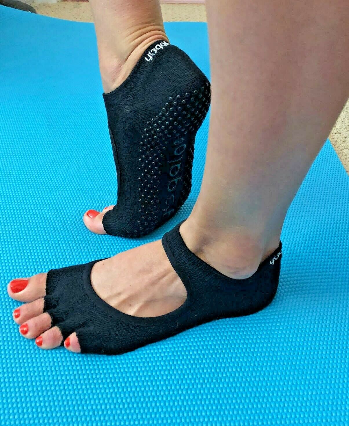 Yoga Socks Toeless Grip Non Slip Dance Pilates Exercise High Quality – US Seller