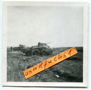 Foto: WH 8 Rad Schützen-Panzer in Front-Bereitstellung an der Ostfront 1943 / 44