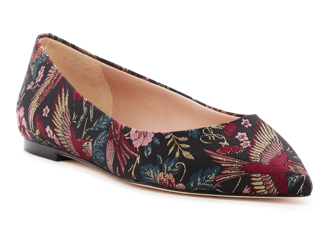 Sam Edelman Rae Women's Multi color Bird Print Flats Sz 9 1633