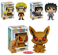 Funko Pop Naruto Shippuden 3-figure Set Naruto, Sasuke & Kurama