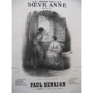 HENRION-Paul-S-ur-Anne-Chant-Piano-ca1850-partition-sheet-music-score