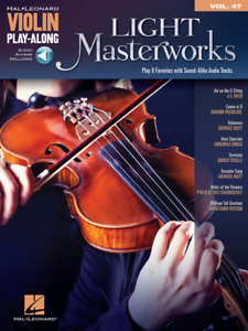 """light Masterworks"" Violin Play-along Volume 47-musique Livre Audio/access-neuf-vente-e Fr-fr Afficher Le Titre D'origine"