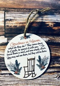 Christmas in heaven memorial holiday Decoration tree ornament Wooden   eBay