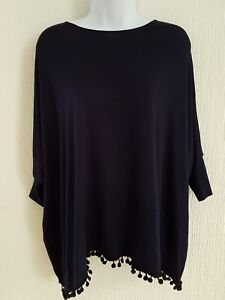 New-Ladies-Dark-Blue-Top-Size-S-M-Baggy-tassel-top-Royal-with-matching-tights