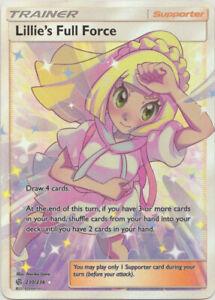 Pokemon Card LILLIE/'S FULL FORCE 230//236 Cosmic Eclipse Full Art Ultra Rare NM