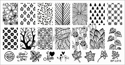 Nagel Schablone Nail Art Stamp Stamping Template Plates BORN PRETTY L015