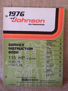Details about 1976 Johnson Outboard Seahorse Service Repair Manual 115 hp  115EL76 115ETL76
