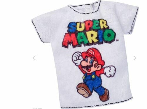 Barbie Exclusive Super Mario Fashion White Tshirt NEW IN BOX