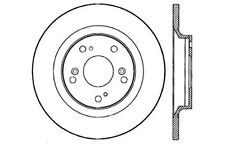 Disc Brake Rotor-High Performance Drilled And Slotted fits 00-08 Honda S2000