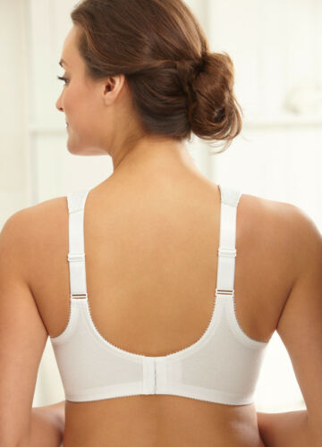 White Lace CLEARANCE! 55/% Cotton NEW Bra msrp $40 X-WIDE-PADDED-STRAPS Support