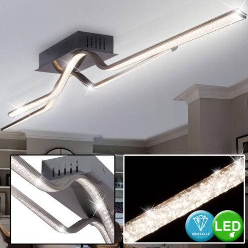 LED Decken Kristall-Optik Wellen Design Wohn Zimmer Lampe Leuchte Gold silber