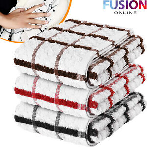 Large-Tea-Towels-Dish-Cloths-Cleaning-Kitchen-Towel-Drying-100-Egyptian-Cotton