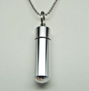 Men-039-s-Cremation-Jewelry-Engraveable-Cylinder-Urn-Necklace-with-Inner-Bottle