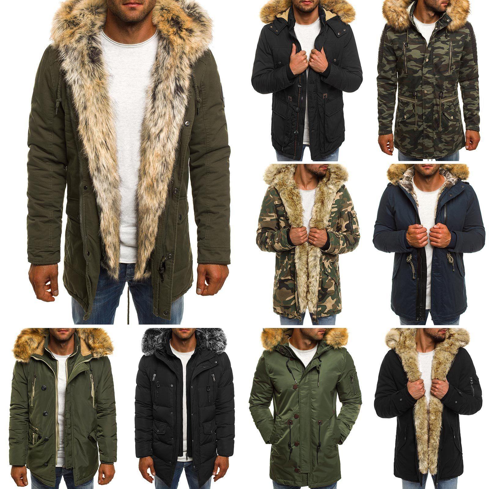 OZONEE inverno Uomo Giacca Invernale Giacca PARKA TERMICA Giacca Cappuccio inverno OZONEE cappotto coat MIX 54be62