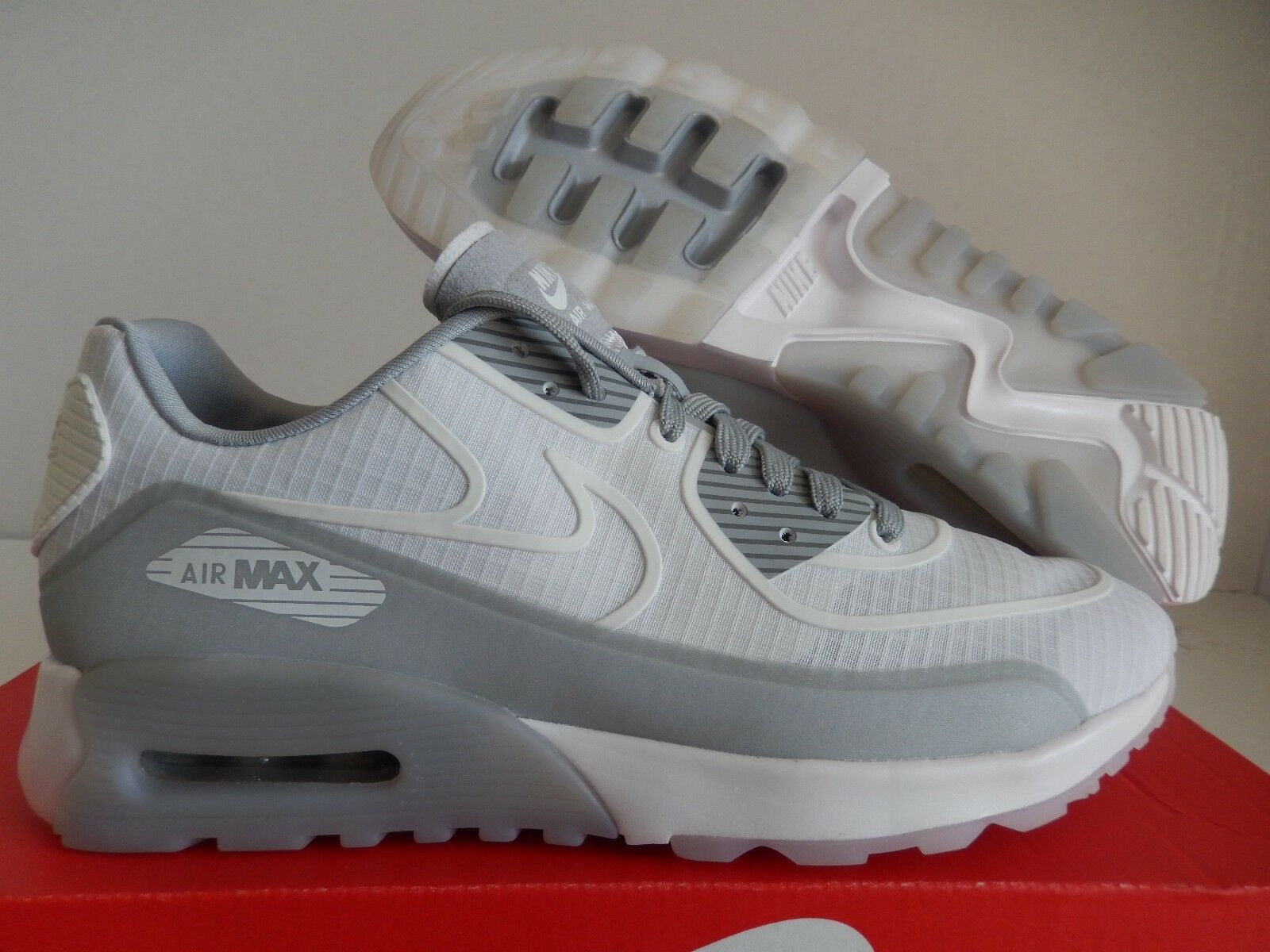 WMNS NIKE AIR MAX 90 ULTRA 2.0 SI WHITE-WHITE-WOLF GREY SZ 7.5 [881108-102]