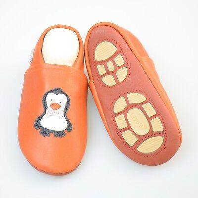 Brillante Pantofole's Krabbelschuhe Pantofole Liya - #621 Pinguino In Terracotta- A Tutti I Costi
